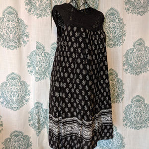 NWT Anthro KAS black and white crochet dress Small